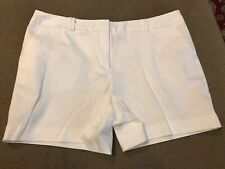 Worthington Women's White Relaxed Modern Fit Shorts Size 14 Cotton Blend (JB)