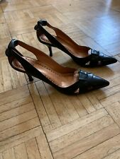 BRONX (MADE IN BRAZIL) BLACK LEATHER PUMPS SIZE 37