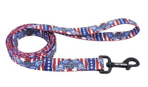 Harley-Davidson Patriotic Red, White, and Blue 6 ft Long Dog Leash H0466 HD206