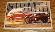 Original 1996 Subaru Full Line Sales Brochure 96 SVX Legacy Impreza Outback