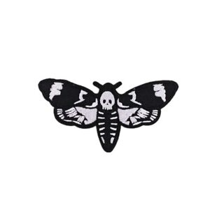 Butterfly Skull Badge Embroidered Clothing Patch Iron-On Kids DIY Decorative 1pc