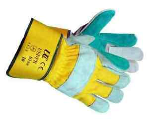 Thick Gardening Gloves Men Ladies Leather Thorn Proof Heavy Duty Double Palm