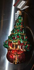 "NEW RADKO Glass Ornament ROOTED IN RADIANCE X-mas Tree Ball Candle 7"" Crystals"