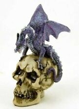 Dragon Ornament On Skull Skeleton Purple Statue Figure BARGAIN PRICE 10.5cm NEW