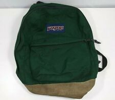 Vintage 90s JANSPORT made in USA Leather Bottom Forest Green Backpack 1990s
