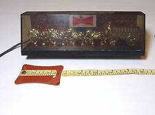 Rare 1950s or 60s 8-inch Mini Budweiser Clydesdales Lighted Beer Sign Union Made