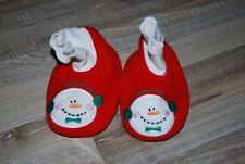chaussons bébé 6 mois hiver noel bonhomme de neige