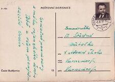 CSSR Tschechoslowakei Postkarte Nr. 125 gest. Gottwald  Photoansichtskarte  -3