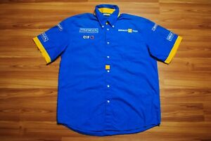 OFFICIAL RENAULT F1 TEAM SHIRT ALONSO YEARS KAPPA BLUE COLOR SHORT SLEEVE LARGE