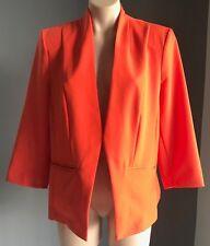 Gorgeous Orange TARGET COLLECTION Collarless 3/4 Sleeve Jacket/Blazer Size 18