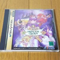 USED Princess Crown Sega Saturn NTSC-J Japan Rare SS F/S Japan