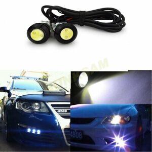 2x 12V Cars Universal Eagle Eye Light Daytime Running Fog Lamp Tail Backup Light