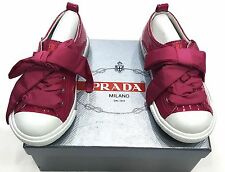 KIDS PRADA SNEAKERS SHOES PATENT LEATHER PINK 100% AUTHENTIC
