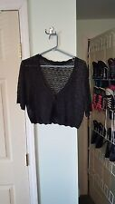 Express Cropped Glitter Sweater Size Large