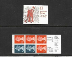 GB 1988 Charles Dickens #2 Folded £1 Stamp Booklet - FH14 - Cyl Nos B6 B21