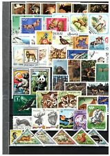 Set of 50 different stamps Animals, Birds, Fish, Tiere, Oiseaux, Butterflies S12
