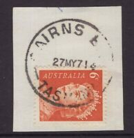 Tasmania CAIRNS BAY 1971 postmark on piece type 2b(s) rated 2R by Hardinge