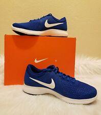 Nike Revolution 4 Mens Running Shoes Blue (Gamerl) White Size 10