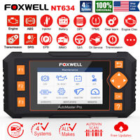 FOXWELL NT634 PRO Auto Diagnostic Tool OBD2 Scanner ABS Airbag SAS EPB Oil TPMS