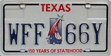 Texas  License Plate, Original  Nummernschild  USA  WFF 66Y  ORIGINALBILD