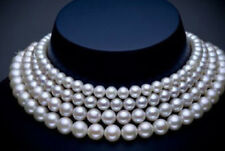 Single strand 10-11mm south sea white round pearl necklace 48inch 14k JN1870