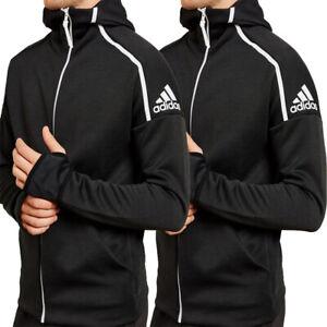 Adidas Mens Hoodie Hoody Full Zip ZNE Sweatshirt Jacket Track Top Black Size 2XL