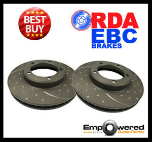 DIMPLED SLOTTED FRONT BRAKE ROTORS for Daihatsu Cuore 1.0L *234mm* 1/2003-3/2007