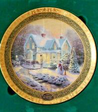 Thomas Kinkade Bradford Exchange 2004 Christmas Plate Limited Edition in Origina