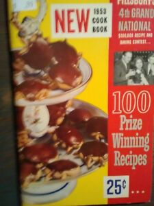 NEW 1953 VINTAGE COOK BOOK PILLSBURY COOK BOOK 4TH GRAND NATIONAL BOOK