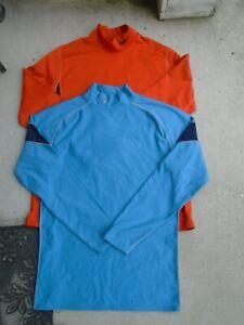 Mens Under Armour ,Nike lot 2 ColdGear Fitted  Mock TurtleNeck Shirt Sz Large
