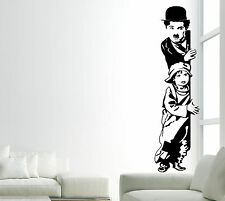 Wall stickers arredo casa Charlie Chaplin Charlot adesivi murali arredo salotto
