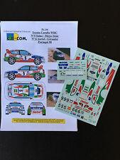 Decals 1/43 Toyota Corolla WRC Auriol Rally Portugal 1998 WRC Rally Portughese