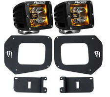 Rigid Radiance LED Fog Light Kit Amber Backlight for 16 17 Toyota Tacoma 20204