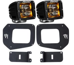 Rigid Radiance LED Fog Light Kit Amber Backlight for 16-20 Toyota Tacoma 20204