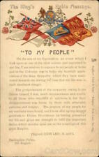Royalty Edward VII-Message to the People Before His Coronation Tuck Postcard