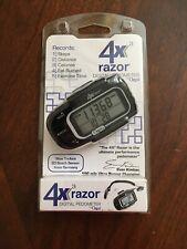 NEW Ozeri 4x3razor Digital Pocket 3D Pedometer with Tri-Axis Bosch sensor blue