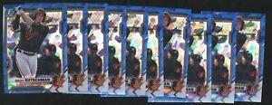 Lot (x10) 2021 Bowman Chrome Sapphire ADLEY RUTSCHMAN #BCP-121 Baltimore Orioles