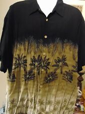 Island Shores Men's Hawaiian Shirt  Palm Tree Print Hawaiian 3XLT