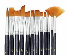 Paint Brushes Laniakea 12pcs Paint Brush Set for Watercolor/Oil/Acrylic/Craft...