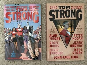 Tom Strong Vol. 1 TPB And Tom Strong Book 4 HC. Alan Moore, Chris Sprouse.