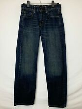 Levi's 569 Loose Straight Youth/Boys Dark Wash Brushed Jeans! 5 Pkt. Sz 14 REG