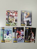 1994 Signature Rookies Tetrad T Promos/10000, Set of 5 MultiSport Cards