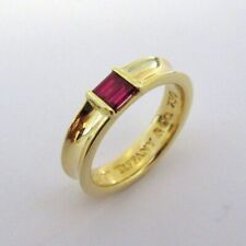 TIFFANY & Co. 18K Yellow Gold Ruby Stacking Ring New