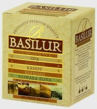 Basilur Ceylon Tea - UVA, KANDY, DIMBULA, NUWARA ELIYA, RUHUNU Assorted Tea Bags