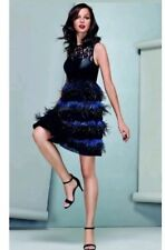 BNWT 🎀 Coast 🎀Size 6 Izzy Feather Leather Lace Evening Prom Dress XS RRP £250