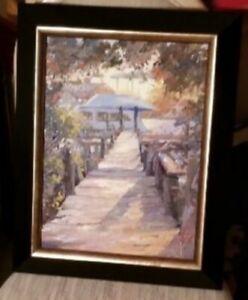 "Kansas Artist- R.G. Summers-Florida Oil-""Late Slip Manatee Pocket""-Powerful"