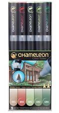 Chameleon Color Tones 5 Pen Set Alcohol Blending Gradient - Nature Colour Tones