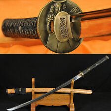 CLAY TEMPERED FULL TANG BLADE BAMBOO SAYA JAPANESE SAMURAI REAL SWORD KATANA