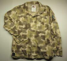 Desert Camouflage HUF Long Sleev Button Up Shirt Adult Men's Size Large