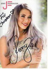 Jenny Frankhauser handsignierte Autogrammkarte Autogramm Handsigniert NEU
